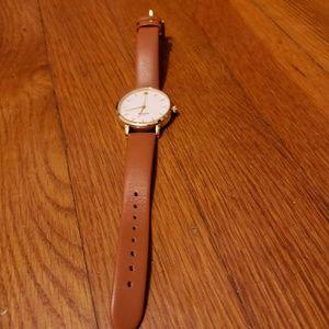 Kate Spade Metro Luggage Leather Watch